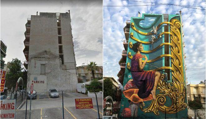 Καρέ-καρέ η Αλίκη του WD: Πώς ένας γκρίζος τοίχος στην Πάτρα έγινε παγκόσμιο viral