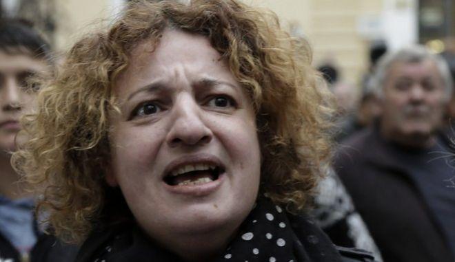 Διαμαρτυρία από μέλη της ΚΕΕΡΦΑ έξω από το Εφετείο, την Τετάρτη 8 Νομεβρίου 2017, όπου δικάζεται ο Χρήστος Ζέρβας, δράστης και οργανωτής της επίθεσης της Χρυσής Αυγής ενάντια στον φοιτητή Αλέξη Λάζαρη στις 31 Μαρτίου στους Αμπελόκηπους. Ο Χρήστος Ζέρβαςε είανι κατηγορούμενος για ληστεία και απόπειρα βαριάς σκοπούμενης σωματικής βλάβης. (EUROKINISSI/ΣΤΕΛΙΟΣ ΜΙΣΙΝΑΣ)