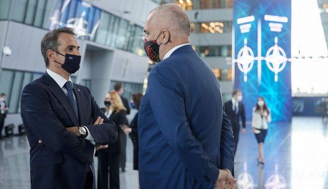 Μητσοτάκης - Ράμα συμφώνησαν να επιταχύνουν για προσφυγή στη Χάγη