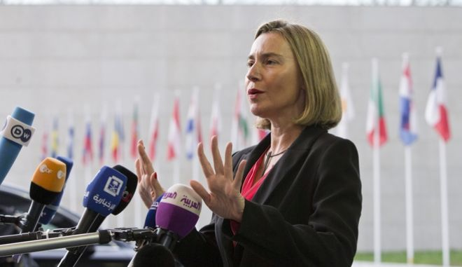Η Ύπατη Εκπρόσωπος της Κομισιόν για θέματα εξωτερικής πολιτικής, Φεντερίκα Μογκερίνι