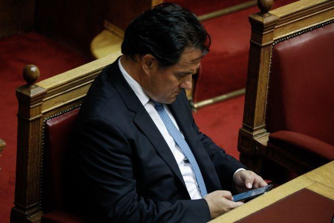 Ο Άδωνις Γεωργιάδης χθες στην Βουλή