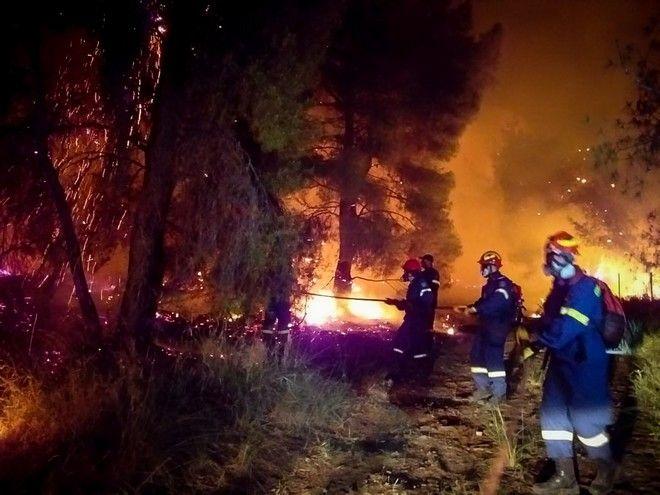 Πυρκαγιά σε δασική έκταση στο Σχινό Κορινθίας