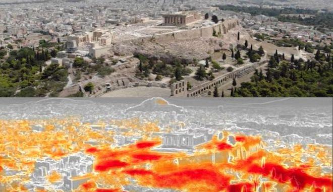 """Η Αθήνα """"φλέγεται"""": Το ωραιότερο μνημείο του κόσμου παραδομένο στον καύσωνα"""