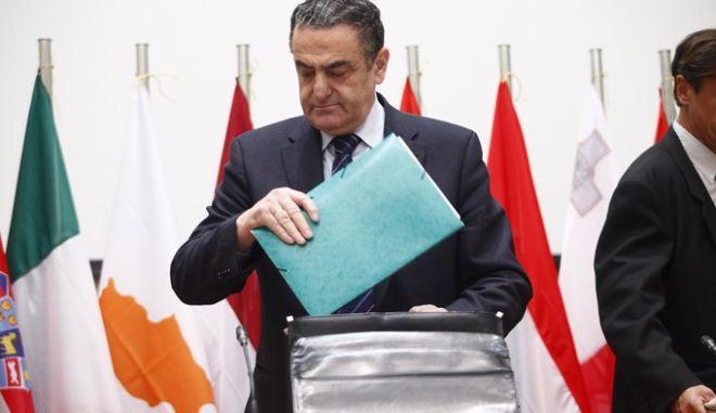 Συνέντευξη τύπου του υπ. Δικαιοσύνης Χαρ. Αθανασίου μετά το τέλος της πρώτης ημέρας της Άτυπης Συνόδου των υπουργών Δικαιοσύνης της Ευρωπαϊκής Ένωσης την Πέμπτη 23 Ιανουαρίου 2014. (EUROKINISSI/ΓΙΩΡΓΟΣ ΚΟΝΤΑΡΙΝΗΣ)