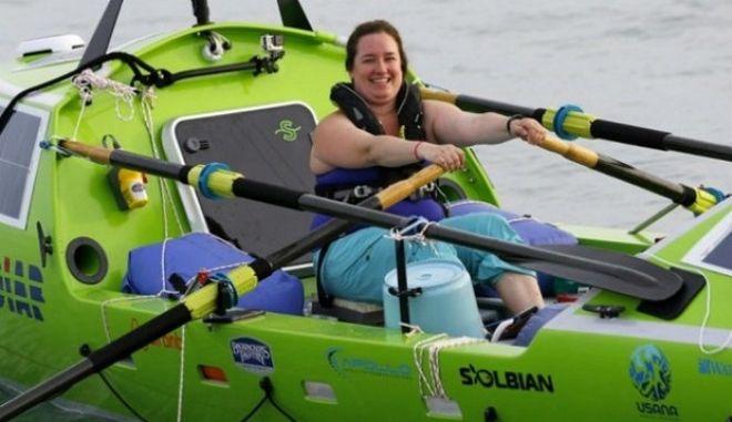 Σόνια Μπάουμστιν: Η 30χρονη που θέλει να διασχίσει τον Ειρηνικό κωπηλατώντας