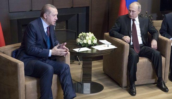 Κοινό μέτωπο Πούτιν - Ερντογάν για την Παλαιστίνη
