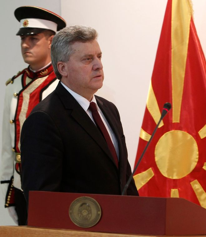 Ο πρόεδρος της ΠΓΔΜ Γκεόργκι Ιβανόφ, σε συνέντευξη Τύπου στα Σκόπια για το θέμα του ονόματος