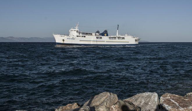 Στιγμιότυπο από το λιμάνι της Ραφήνας.