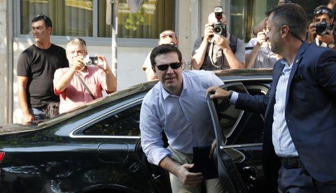 ΑΘΗΝΑ-Συνεδριάζει η Πολιτική Γραμματεία του ΣΥΡΙΖΑ υπό τον πρωθυπουργό Αλέξη Τσίπρα.(Eurokinissi- ΙΑΣΩΝΑΣ ΠΙΕΡΡΑΚΟΣ)
