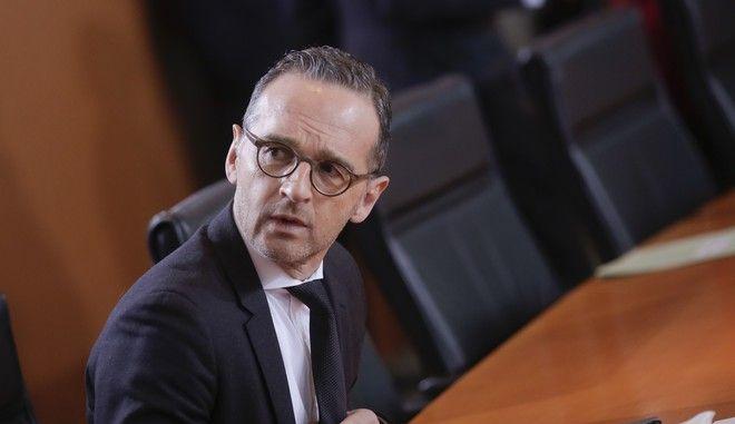 Ο Γερμανός υπουργός Εξωτερικών Χάικο Μάας σε υπουργικό συμβούλιο στο Βερολίνο