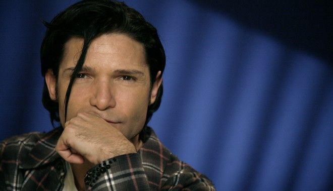 Actor Corey Feldman poses for a portrait Friday, Oct. 8, 2010 in New York.  (AP Photo/Jeff Christensen)