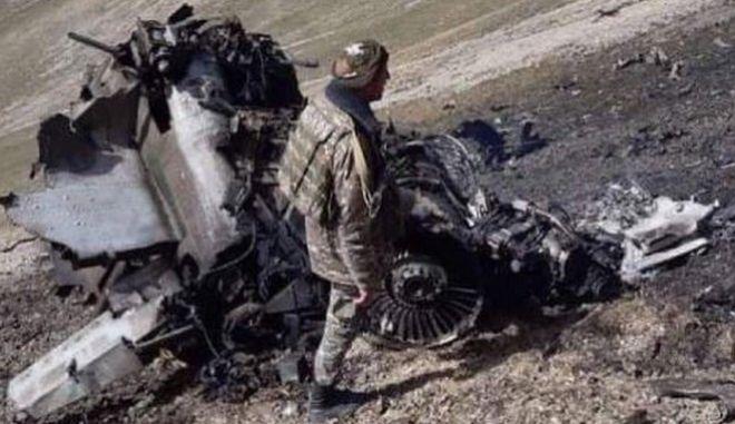 Φωτογραφία από το μαχητικό της Αρμενίας που καταρρίφθηκε την Τρίτη