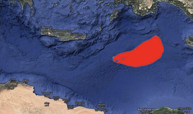 Η περιοχή που δέσμευσε με Navtex η Τουρκία