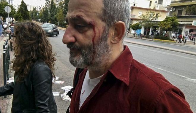 Επιθέσεις κατά μελών της ΚΕΕΡΦΑ στις παρελάσεις στο Γαλάτσι και τη Καλλιθέα την Κυριακή 25 μαρτίου 2018. Στο Γαλάτσι σύμφωνα με την καταγγελία της ΚΕΕΡΦΑ στο τέλος της παρέλασης επιτέθηκαν σε άλλη ομάδα της ΚΕΕΡΦΑ και του ΣΕΚ, τραυματίζοντας στο πρόσωπο τον Γιώργο Πίττα(φωτό), δημοσιογράφο της Εργατικής αλληλεγγύης. (EUROKINISSI/ΚΕΕΡΦΑ)