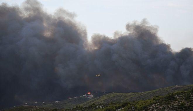 Η φονική φωτιά άρχισε από την Πεντέλη (Eurokinissi/ΚΑΡΑΓΙΑΝΝΗΣ ΜΙΧΑΛΗΣ)