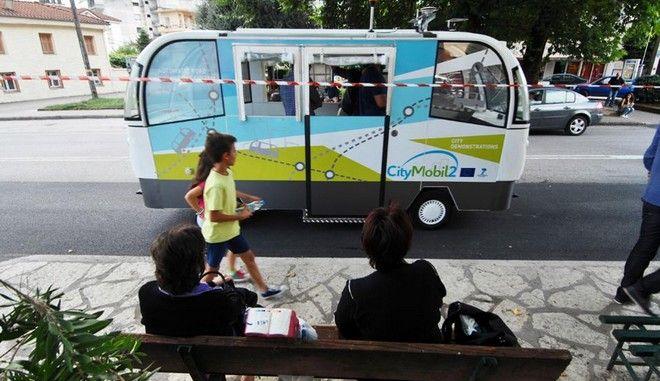Σε λειτουργία το πρώτο λεωφορείο χωρίς οδηγό στα Τρίκαλα