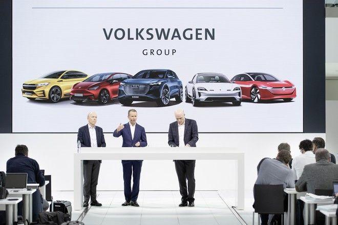 Στιγμιότυπο από συνέντευξη Τύπου του ομίλου Volkswagen