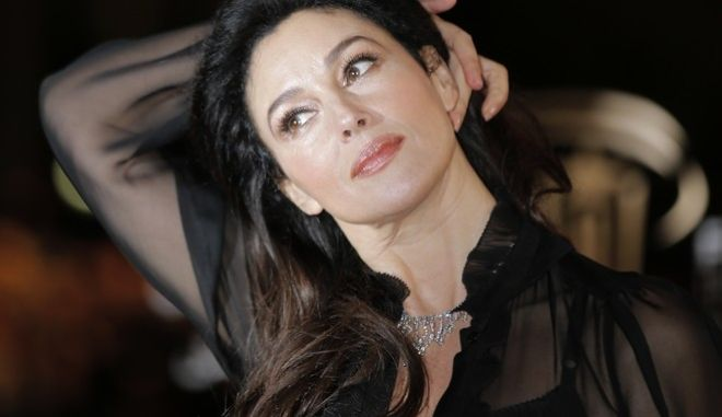 Italian actress Monica Bellucci arrives at the Marrakech International Film Festival in Marrakech, Morocco, Saturday, Dec. 1, 2012 at the Marrakech Congress Palace. The Film Festival take place until Dec. 8. (AP Photo/Lionel Cironneau)