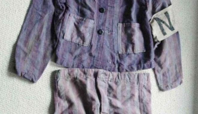 Holocaust items being sold on Ebay Jewish Holocaust WW2 Uniform fr Auschwitz Simon Murphy story 1 11 2013