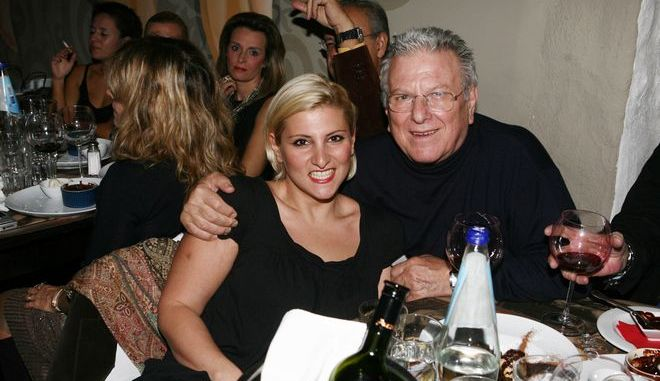 Ο Κώστας Βουτσάς με την κόρη του, Θεοδώρα