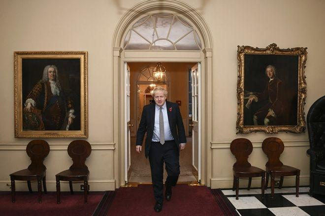 Ο Μπόρις Τζόνσον στο παλάτι του Μπάκιγχαμ