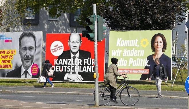 Προεκλογικές αφίσες στους δρόμους της Γερμανίας