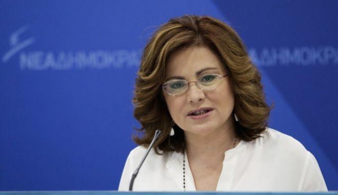 Η Εκπρόσωπος Τύπου της Νέας Δημοκρατίας, Ευρωβουλευτής, κυρία Μαρία Σπυράκη