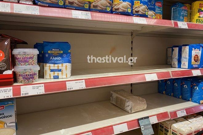 Αυξημένη η κίνηση στα σούπερ μάρκετ στη Θεσσαλονίκη