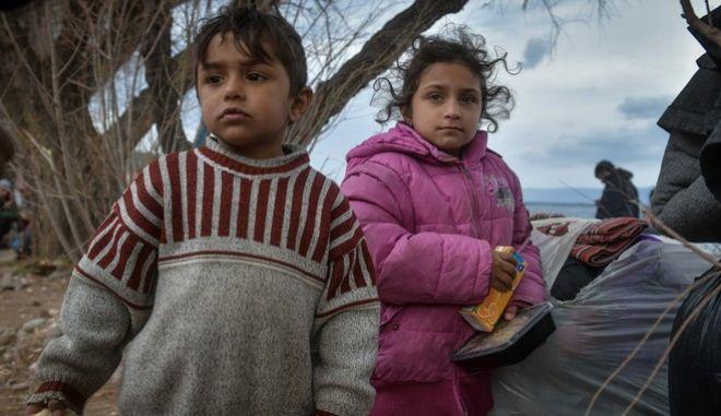 Πρόσφυγες στη Μυτιλήνη