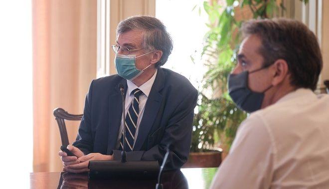 Τηλεδιάσκεψη του Πρωθυπουργού Κυριάκου Μητσοτάκη με Περιφερειάρχες για COVID 19. (EUROKINISSI/ΓΡΑΦΕΙΟ ΤΥΠΟΥ ΠΡΩΘΥΠΟΥΡΓΟΥ/ΔΗΜΗΤΡΗΣ ΠΑΠΑΜΗΤΣΟΣ)