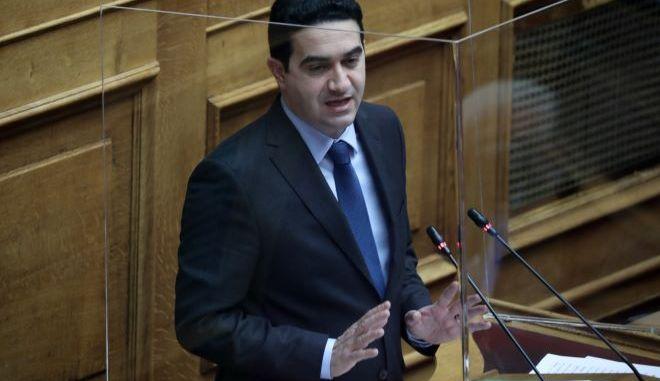 Ο κοινοβουλευτικός εκπρόσωπος  του ΚΙΝΑΛ, Μιχάλης Κατρίνης.