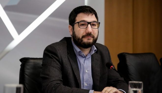 O εκπρόσωπος Τύπου του ΣΥΡΙΖΑ-Π.Σ. Νάσος Ηλιόπουλος (Φωτογραφία αρχείου)