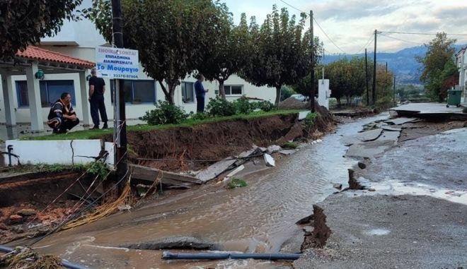 Πλημμύρες στην Εύβοια