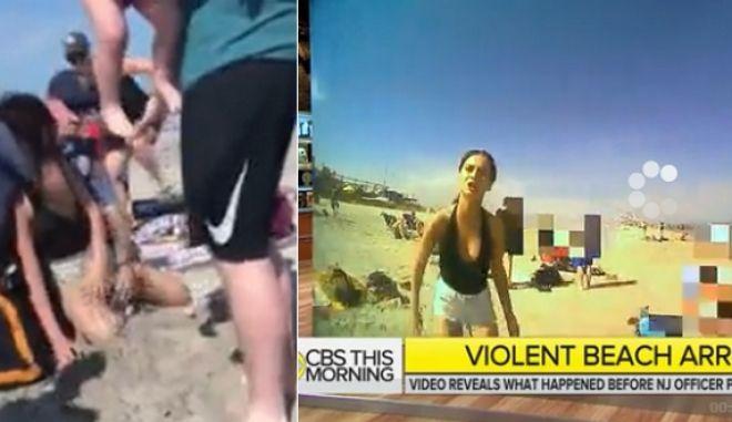 Σοκαριστικά πλάνα: Αστυνομικός κακοποιεί κοπέλα σε παραλία μετά από αλκοτέστ