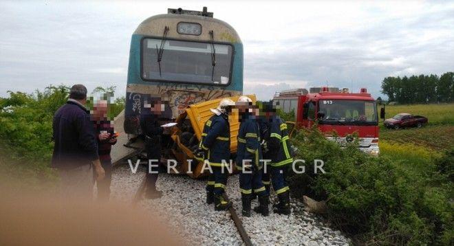 Τραγωδία στην Ημαθία: Τρένο παρέσυρε αυτοκίνητο - Δύο νεκροί