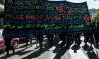 Πορεία αλληλεγγύης σε μετανάστες και χώρους καταλήψεων