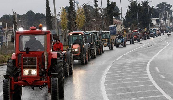 Από παλαιότερη κινητοποίηση αγροτών στη Λάρισα.