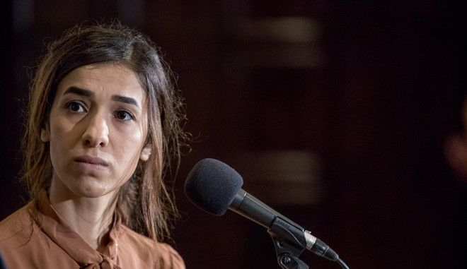 Η βραβευμένη με Νόμπελ Ειρήνης Νάντια Μουράντ στην Ουάσινγκτον