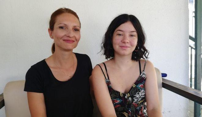 Η Μαρία Σιαφάρα και η κόρη της Δώρα