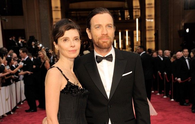 Eve Mavrakis, left, and Ewan McGregor arrive at the Oscars on Sunday, March 2, 2014, at the Dolby Theatre in Los Angeles.  (Photo by Chris Pizzello/Invision/AP)