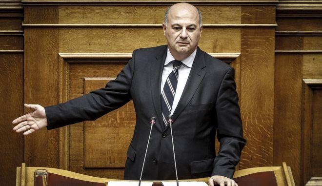 Ο γραμματέας της Κ.Ο. της ΝΔ, Κωνσταντίνος Τσιάρας