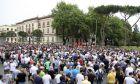 Πλάνο από τη διαδήλωση της Δευτέρας