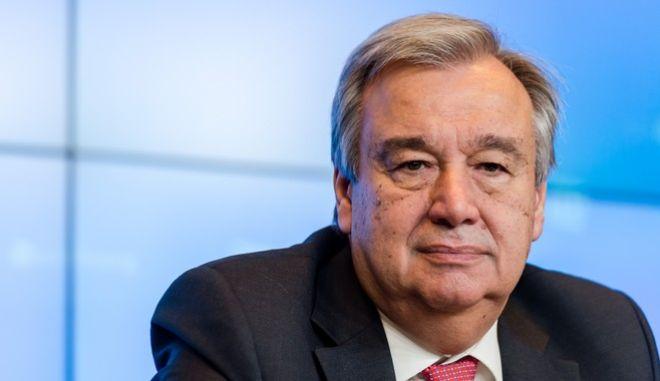 Ο γενικός γραμματέας του ΟΗΕ, Αντόνιο Γκουτέρες.