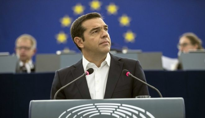 Ο πρωθυπουργός, Αλέξης Τσίπρας, μιλά για το μέλλον της Ευρώπης, στο Ευρωκοινοβούλιο, στο Στρασβούργο