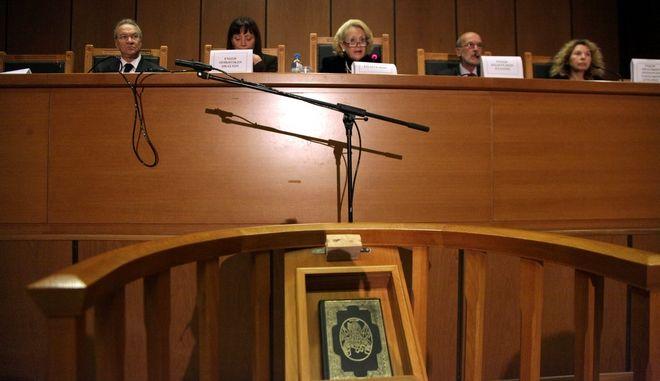 Στιγμιότυπο από την πανδικαστική  συγκέντρωση την Πέμπτη 30 Οκτωβρίου 2014, στην αίθουσα εκδηλώσεων του Εφετείου Αθηνών.  (EUROKINISSI/ΓΕΩΡΓΙΑ ΠΑΝΑΓΟΠΟΥΛΟΥ)
