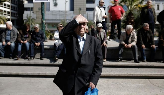 Thousands of protesters marched through central Athens in the first of two planned demos.