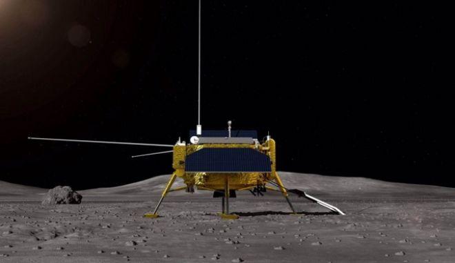 Απεικόνιση του κινεζικού σεληνιακού ρομπότ Chang'e-4