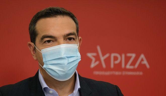 O πρόεδρος του ΣΥΡΙΖΑ - Προοδευτική Συμμαχία, Αλέξης Τσίπρας