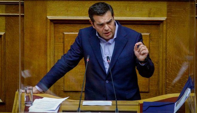 "O Αλέξης Τσίπρας στη συζήτηση του σχεδίου νόμου του Υπουργείου Οικονομικών ""Κύρωση του Κρατικού Προϋπολογισμού οικονομικού έτους 2021"""