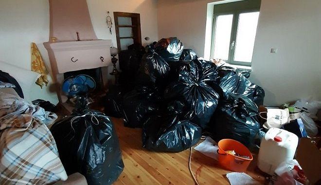 Η κάνναβη που βρέθηκε σε ένα από τα σπίτια στη Λακωνία